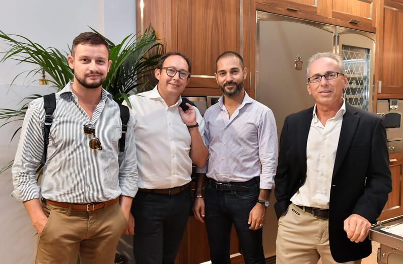 Paolo Foglizzo, Omar Awada, Alberto Caramello and Marco Paganessi